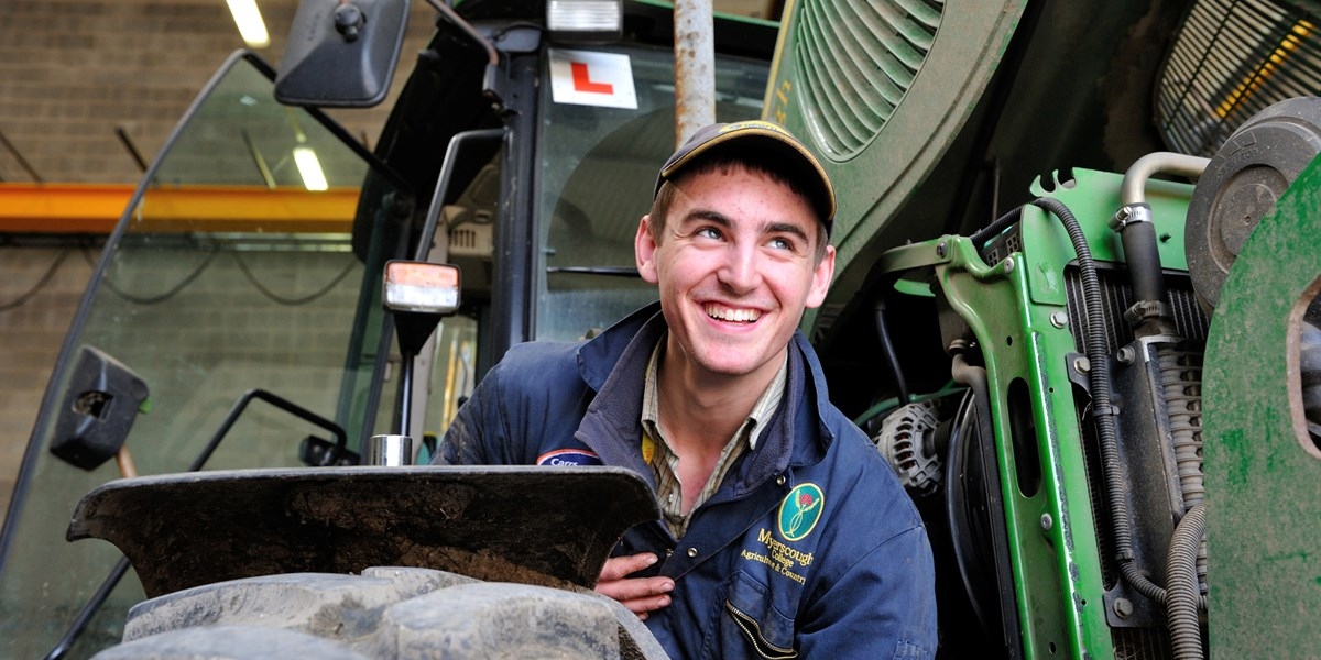 Myerscough College Agricultural Engineering - Checking Tractor Tyres