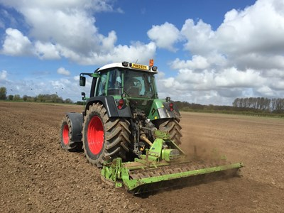 Myerscough College Agricultural Engineering Courses - Tractor ploughing field