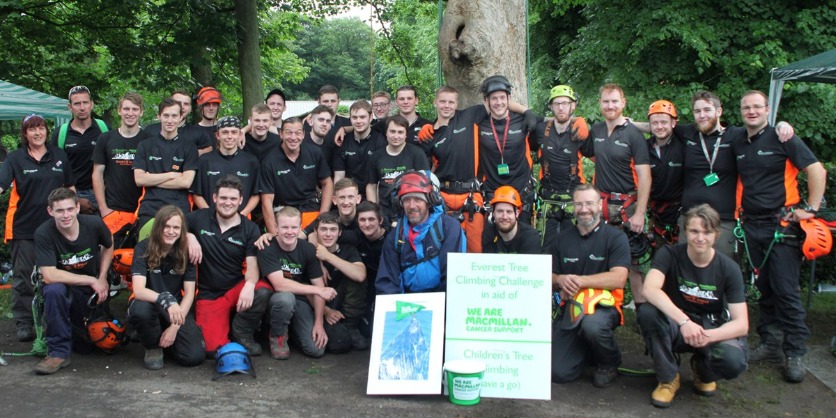 Myerscough College Arboriculture students climbed the height of Everest.
