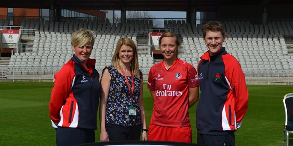 Cricket staff at Lancashire County Cricket Centre