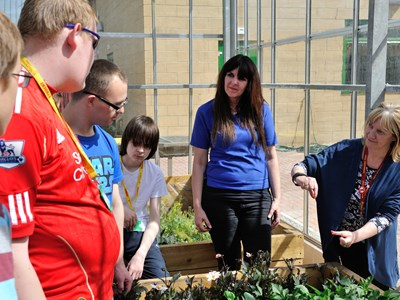 Myerscough College Foundation Learning gardening