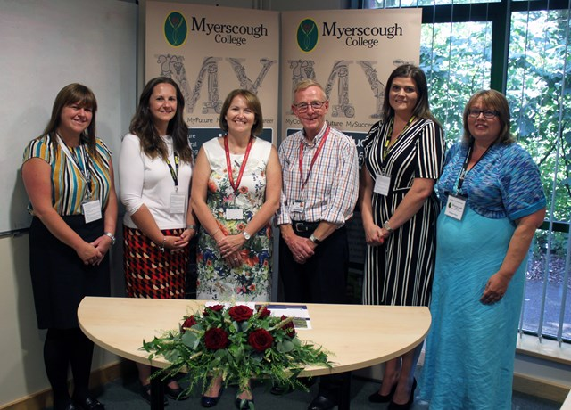 Myerscough College signing - 28th June 2018 - Nicola Roberts - Angela Kershaw - Alison Robinson - Stuart Heys - Andrea Wallace - Janet Jackson.jpg