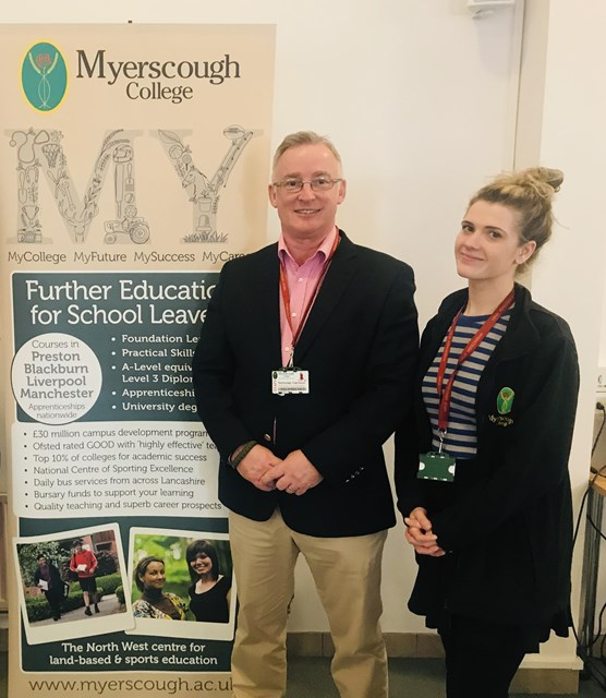 Nick and Amelia from Myerscough's Schools Liaison Team