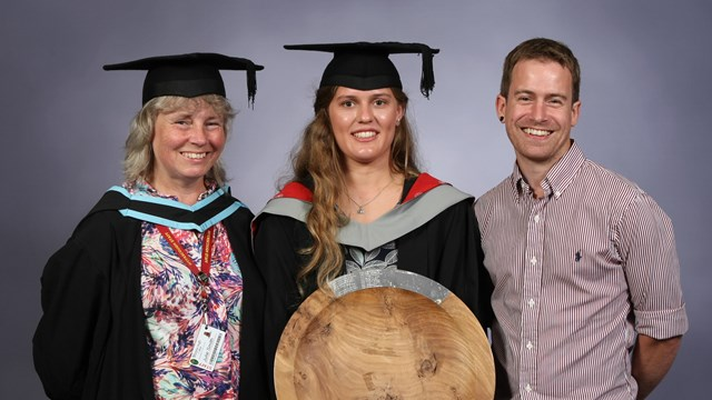 Elizabeth Anderson BSc Arb with sponsor Jonathan Smith and Tutor Julie Smith.jpg