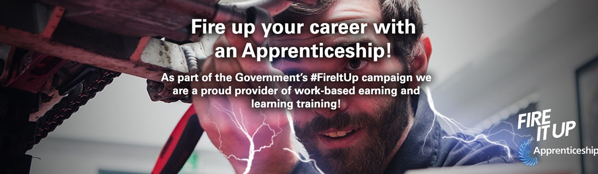 As part of the Government's #FireItUp campaign Myerscough College is a proud provider of work-based earning and learning training!