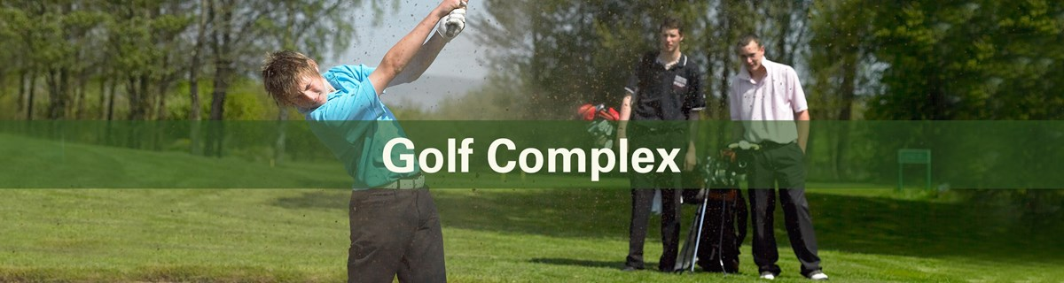 Commercial Services Hero Golf Complex Banner Template