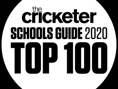 The logo for The Cricketer's Schools Guide Top 100 2020