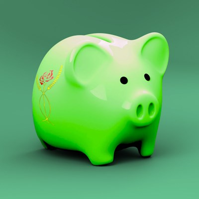 Our Myerscough Piggy Bank representing student finance
